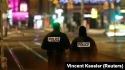 Policia në rrugët e Strasburgut.