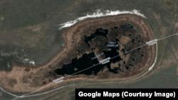 Озеро Сладкое на снимке со спутника.