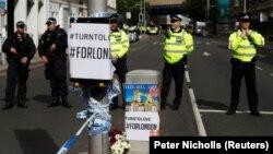 Район Бороу в Лондоне, где 3 июня был совершен теракт, 4 июня 2017 года.