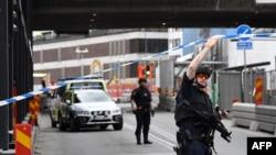 Поліція на місці нападу в Стокгольмі, Швеція, 7 квітня 2017 року