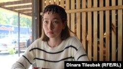 Актриса Газиза Тлеубай. Шымкент, 3 октября 2019 года.