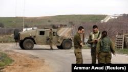 Ізраїльські військові на Голанських висотах, окупованій частині території Сирії