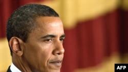 Барак Обама під час виступу зі зверненням до ісламського світу. 4 червня 2009 р.