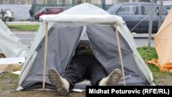 Trideseti dan protesta penzionisanih pripadnika OSBiH