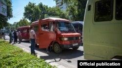 Рейд про проверке общественного транспорта в Бишкеке. 4 июля 2017 года.