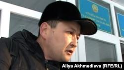Владислав Челахтың адвокаттарының бірі Серік Естияров. Талдықорған, 11 желтоқсан 2012 жыл.