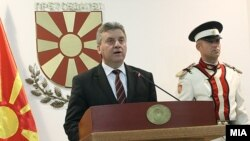 Macedonian President Gjorge Ivanov announces his decision on May 27..