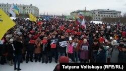 Марш памяти Бориса Немцова в Петербурге, 26 февраля 2017 г.