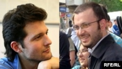 Youth activists Adnan Hajizada (left) and Emin Milli in undated photos