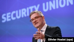"European Security Commissioner Julian King: ""We have to conclude that Russian disinformation can be extremely successful."" (file photo)"