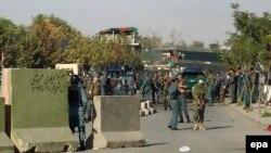 На месте двойного теракта у министерства обороны в Кабуле