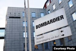 """Bombardier""in İsveç ofisi. Stockholm."