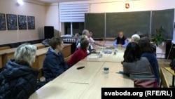 На сустрэчы са Сьвятланай Далговай у грамадзкім цэнтры «Кола» ў Магілёве