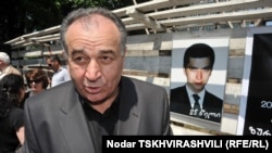 """Tomorrow it will be one year since they devastated our family and killed our beloved son, 22 years old and a fourth-year student,"" Yuri Vazagashvili told reporters in May 2007. (file photo)"