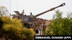 تانک اسرائیلی در نزدیکی نوار غزه