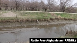 An irrigation canal in Parwan Province is drying up because of a lack of snow and rainfall this winter.