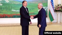 Встреча двух президентов - Ильхама Алиева и Ислама Каримова, Узбекистан, 2010