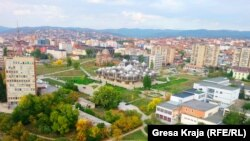 Pamje e një pjese të Prishtinës