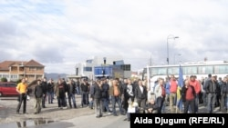 Protest radnika Hidrogradnje, Sarajevo, 6.11.2013.