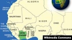 Мапа Кот-д'Івуар