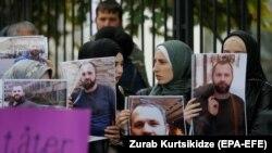 Митинг у посольства Германии в Грузии после убийства Хангошвили