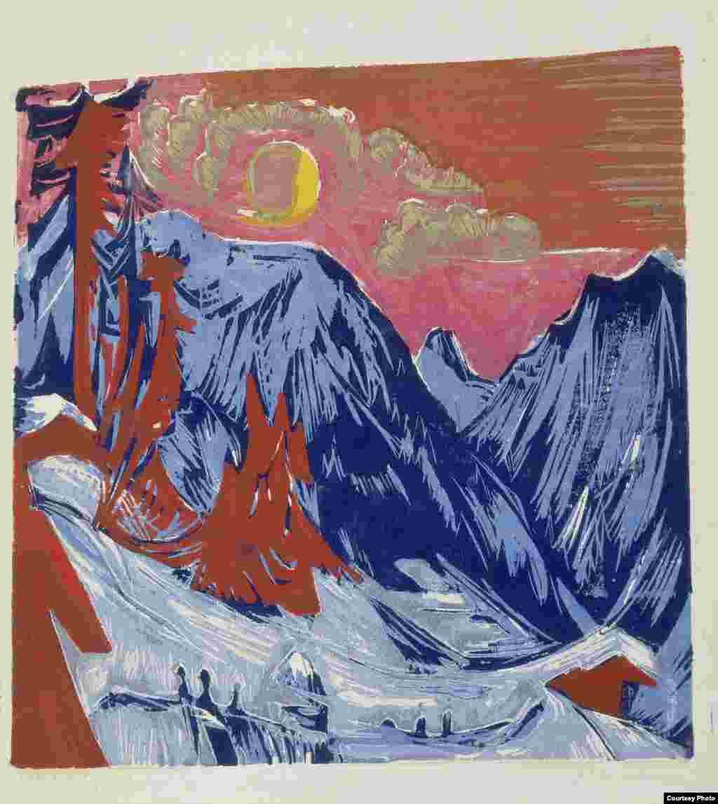 Noapte de iarnă cu lună, 1919 - Foto: Press File Städel Museum, Frankfurt