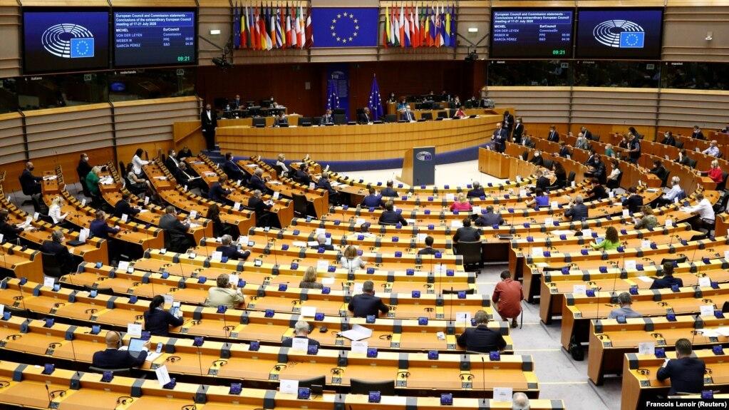 نمایی از پارلمان اروپا؛ عکس از آرشیو رادیو فردا
