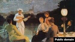 Якуб Шыканэдэр, «Кампанія на тэрасе» (1887)