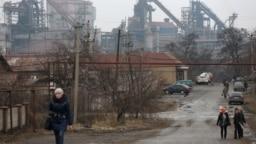 Енакиево, улица вблизи металлургического завода (оккупированная часть Донецкой области)