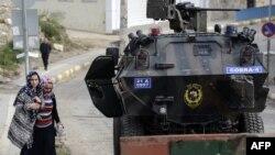 Pamje e një tanku të ushtrisë turke