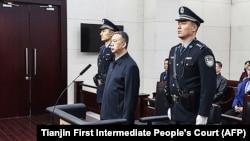 Мэн Хунвэй на заседании суда, 21 января 2020 года.
