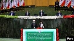 Իրանի նորընտիր նախագահ Էբրահիմ Ռայիսիի երդմնակալության արարողությունը, Թեհրան, 3-ը օգոստոսի, 2021թ.