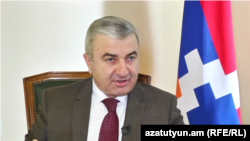 Спикер парламента Нагорного Карабаха Ашот Гулян, Степанакерт, 17 февраля 2017 г.