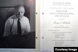 Program de concert din 1947 cu celebrul pianist Walter Gieseking