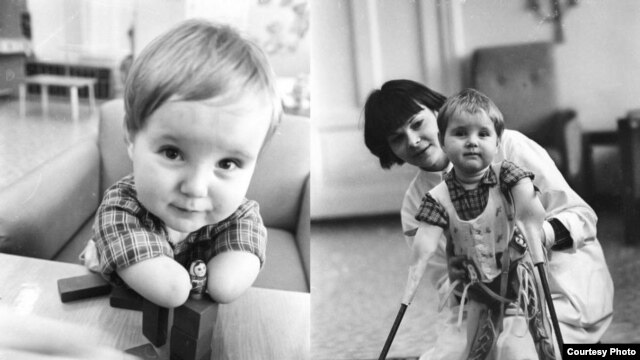 "Two photographs of Vanya by Aleksandr Belenky: ""All his caregivers said he was a really smart boy, just wonderful,"" Belenky says. ""I'd really like to know the fate of this Vanya."""