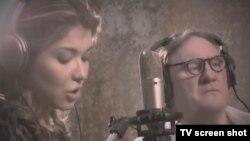 Гульнара Каримова записывает песню с Жераром Депардье