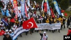 Өкмөткө каршы акция. Анкара, 27-февраль, 2013-жыл.