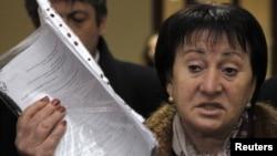 Лидер президентской гонки Южной Осетии Алла Джиоева. Цхенвал, 28 ноября 2011 года.