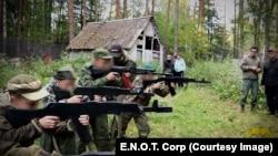 """Obuka dece u """"Međunarodnom vojnom patriotskom kampu mladih"""" u Rusiji"""
