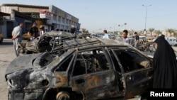 آثار تفجير في مدينة الحرية في بغداد 3/7/2013