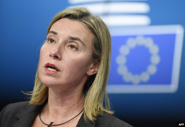 "EU foreign policy chief Federica Mogherini: ""It is not up to us to make such definitions"""
