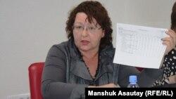 Депутат мажилиса Ирина Смирнова. Алматы, 30 января 2015 года. В это время Ирина Смирнова была директором школы-гимназии в Алматы.