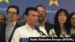 Прес конференција на Зоран Заев, претседател на СДСМ.