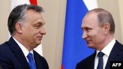 Виктор Орбан и Владимир Путин в Ново-Огарево. 17 февраля 2016 г.