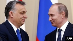 Președintele Vladimir Putin la o întîlnire cu premierul Viktor Orban la Novo-Ogariovo la 17 februarie 2016