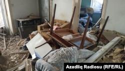 Egy gandzsai otthon a támadás után