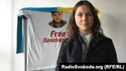 Віра Савченко в офісі Радіо Свобода у Празі. 15 лютого 2016 року
