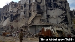 Разрушения в Алеппо, декабрь 2016 года.