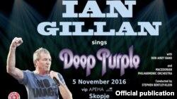 Концерт на Иан Гилан во Скопје, постер