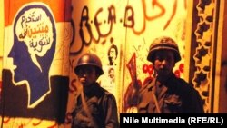 جنود مصريون في محيط القصر الجمهوري